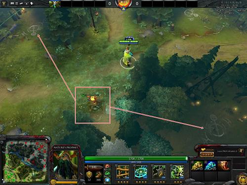 右下の中立キャンプ ( 小 ) と左上の中立キャンプ ( 大 ) を潰し、 Mid 方向への視界を確保